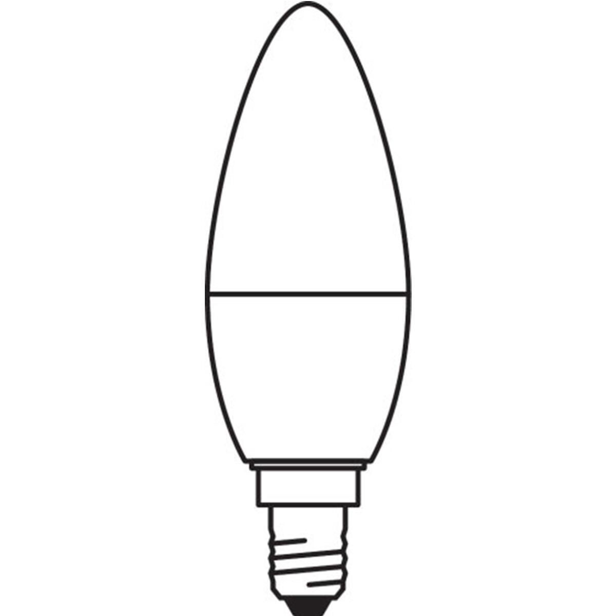 Lampadina LED, E14, Oliva, Opaco, Luce calda, 3W=250LM (equiv 25 W), 220° , OSRAM - 9