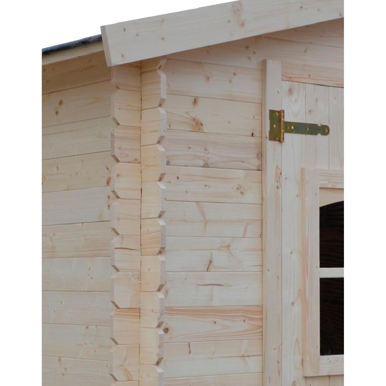 Casetta da giardino in legno Elista, superficie interna 6.66 m² e spessore parete 19 mm - 4