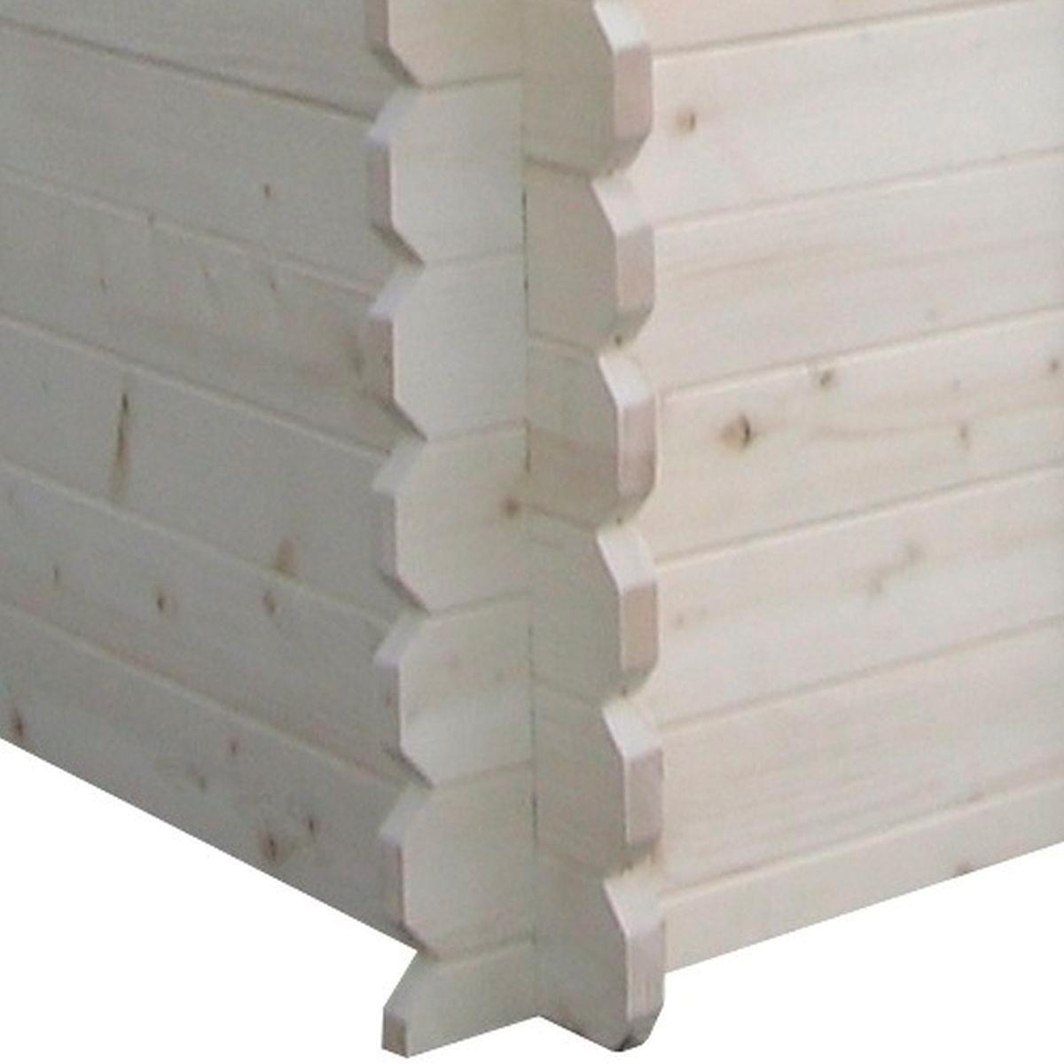 Casetta da giardino in legno Almaty, superficie interna 3.04 m² e spessore parete 28 mm - 3