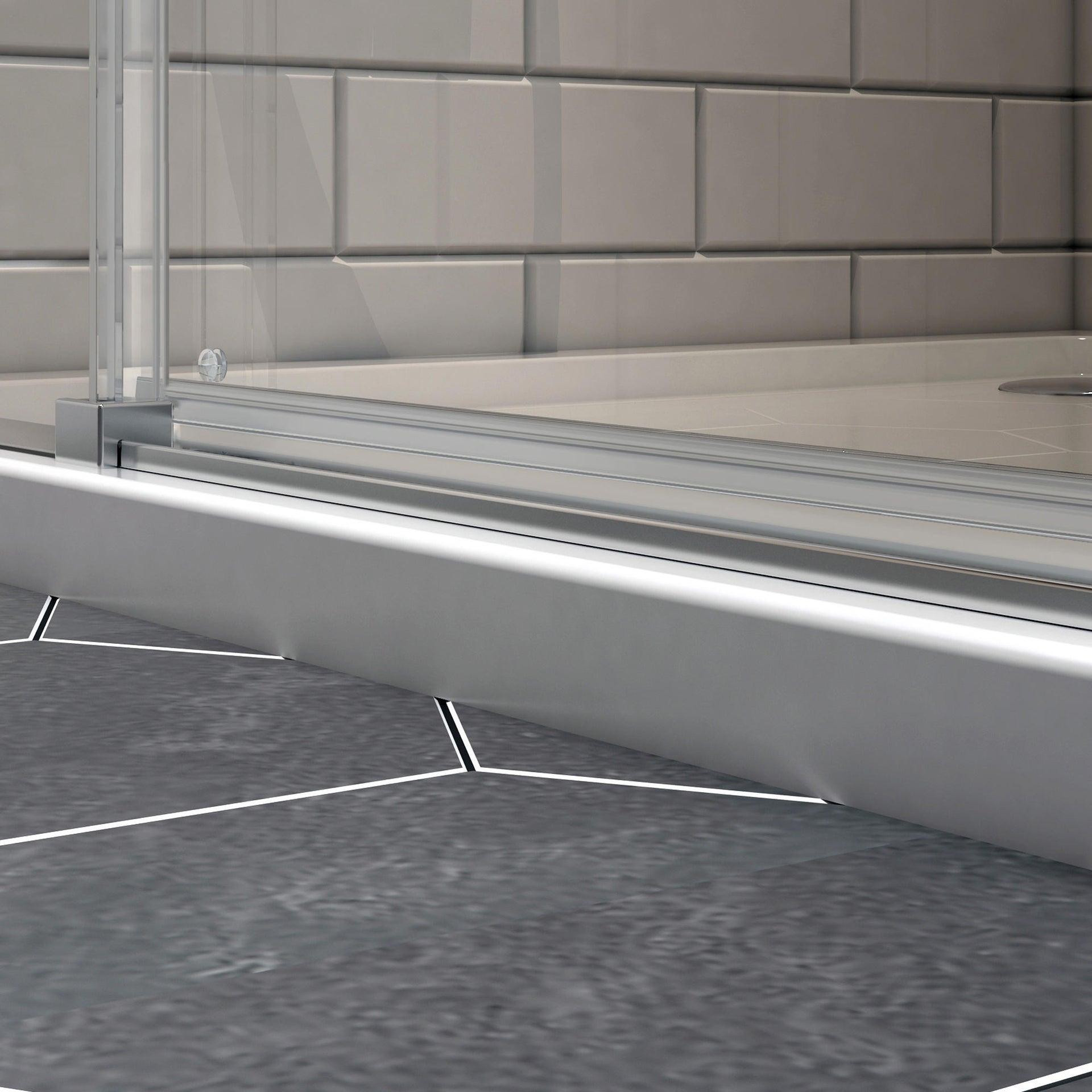 Box doccia rettangolare scorrevole Remix 80 x 120 cm, H 195 cm in vetro temprato, spessore 6 mm trasparente cromato - 10