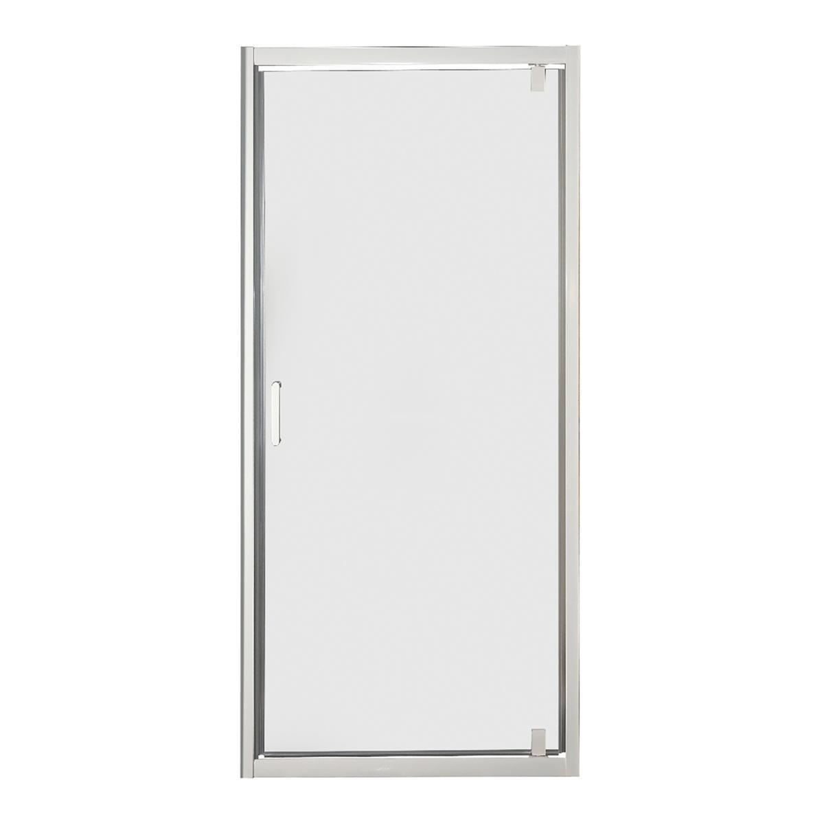 Porta doccia battente Sinque 70 cm, H 190 cm in vetro temprato, spessore 5 mm trasparente bianco - 2