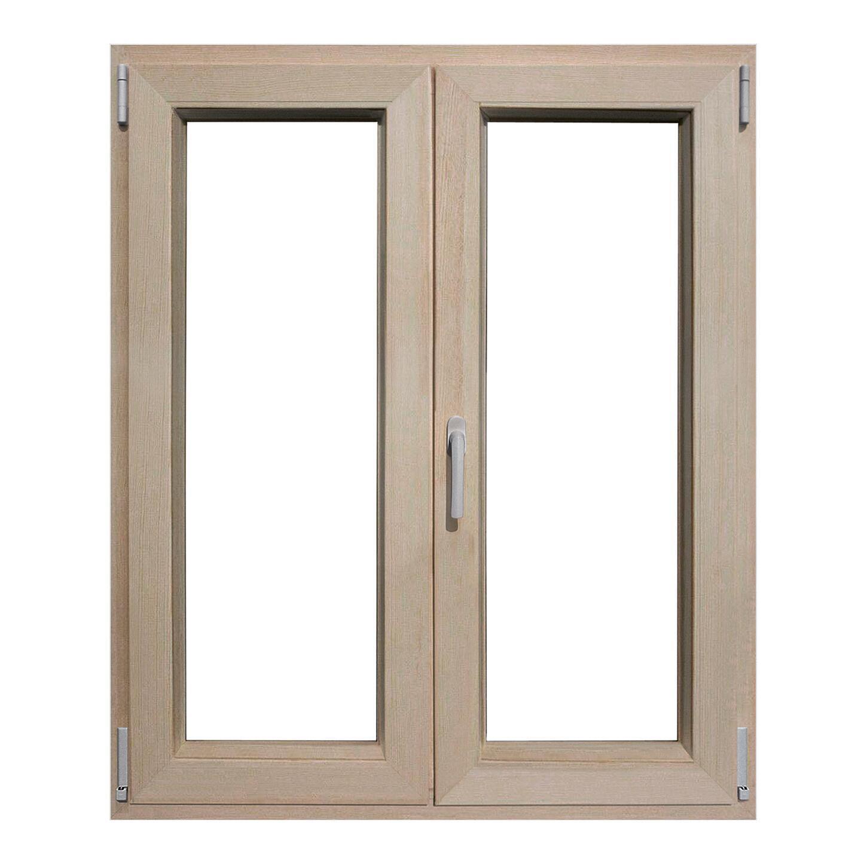 Finestra in legno pino naturale L 100 x H 120 cm, 2 ante oscillo-battente apertura destra - 2