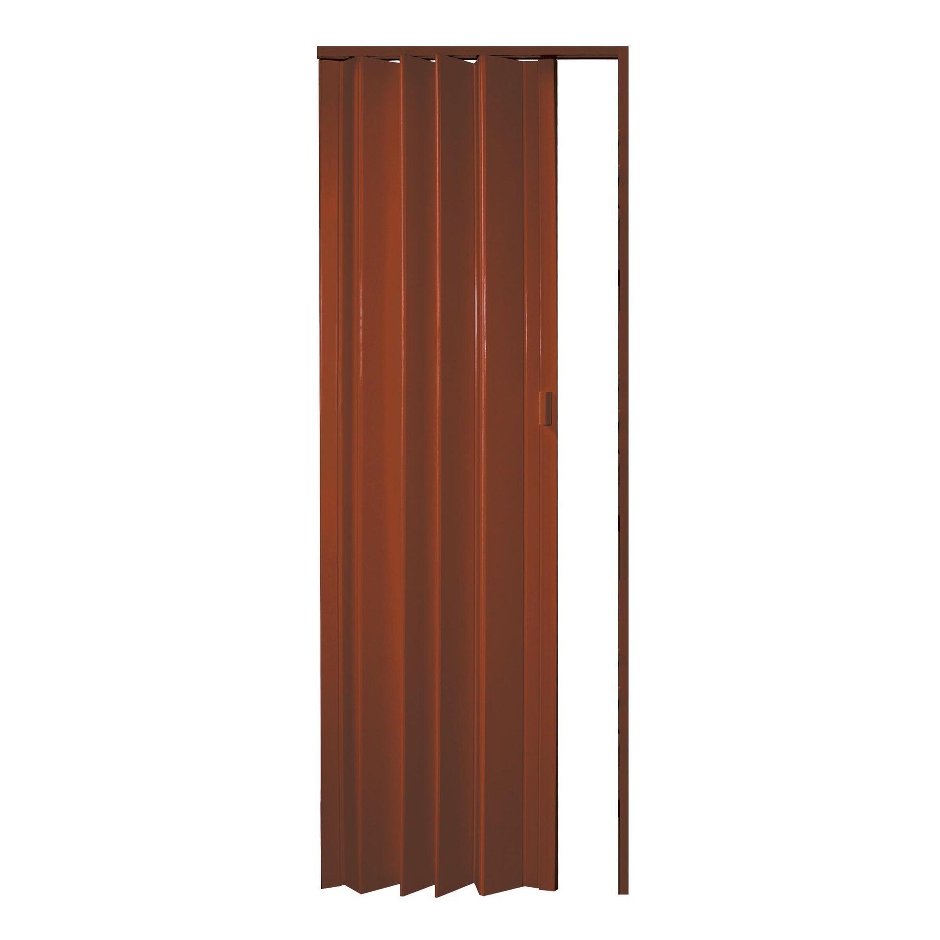 Porta a soffietto Rio in pvc ciliegio L 83 x H 214 cm