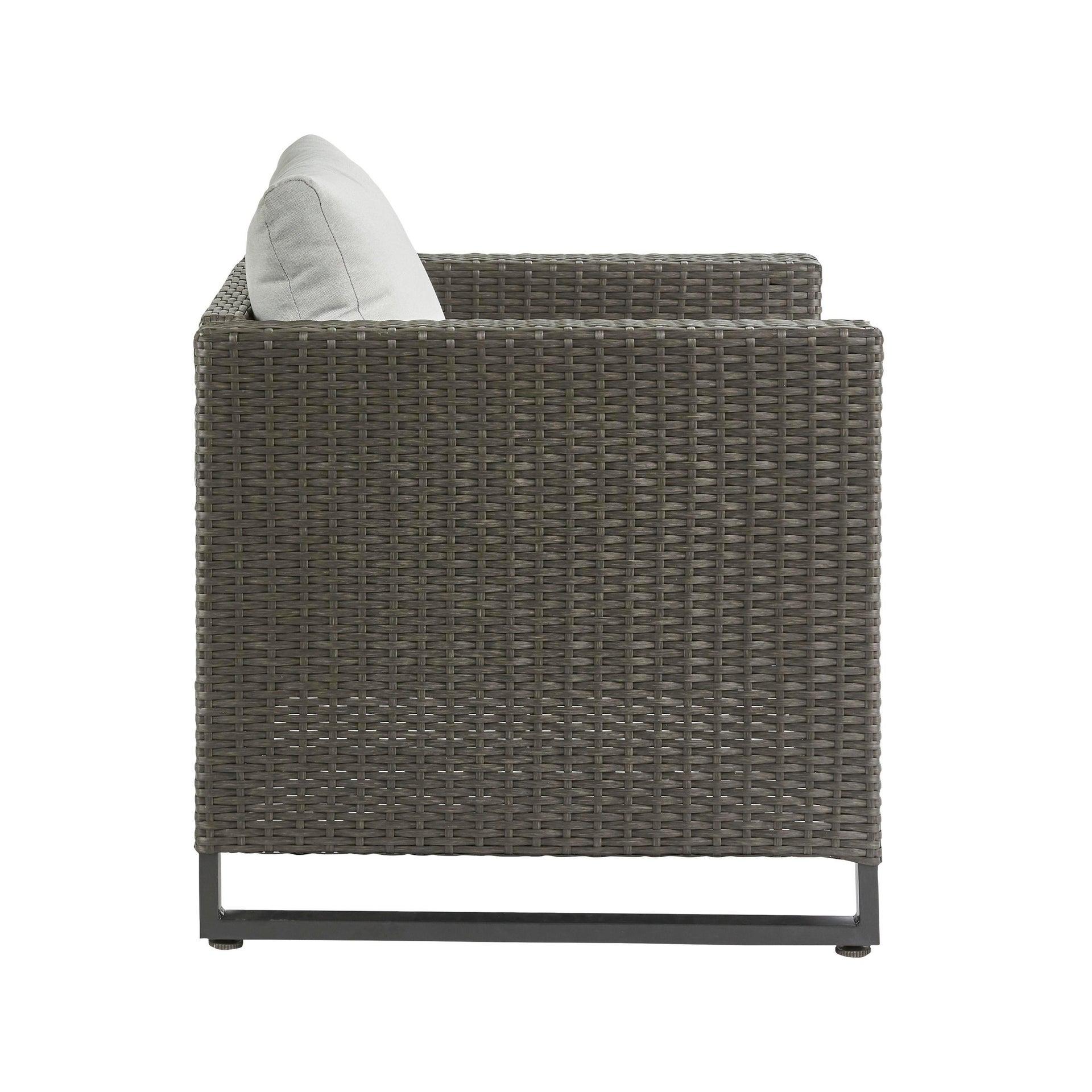 Poltrona da giardino con cuscino in acciaio Noa NATERIAL colore antracite - 6