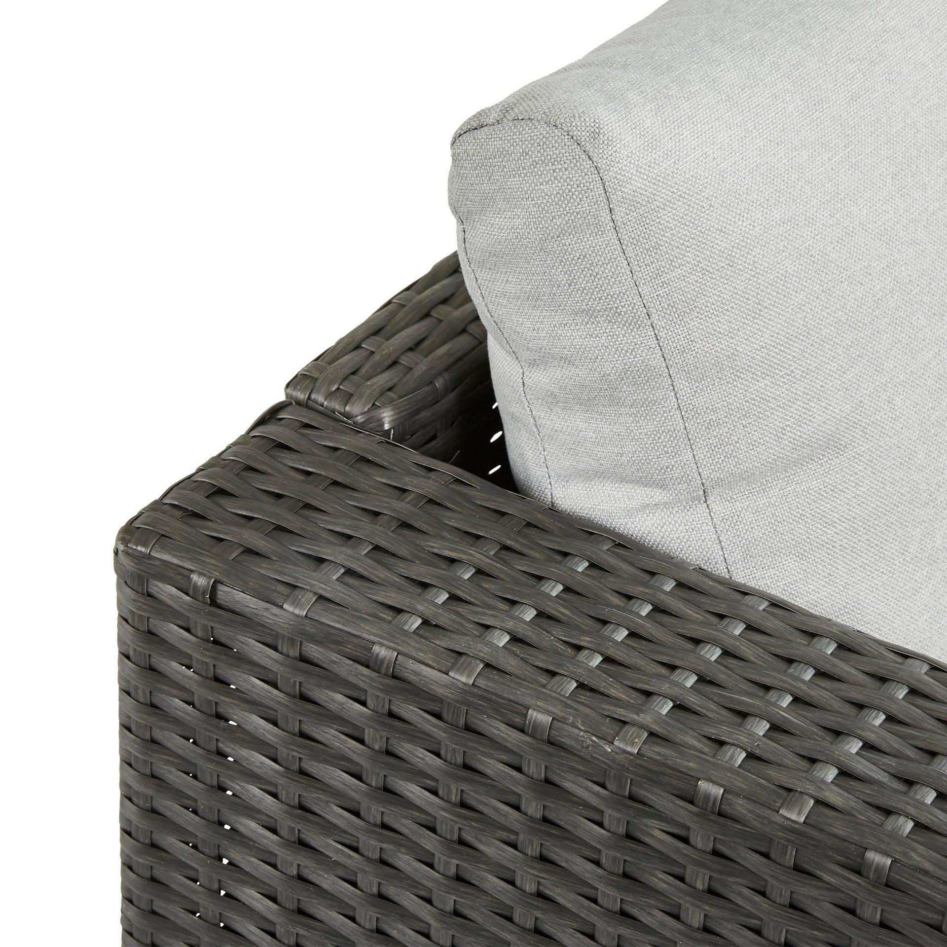 Poltrona da giardino con cuscino in acciaio Noa NATERIAL colore antracite - 7