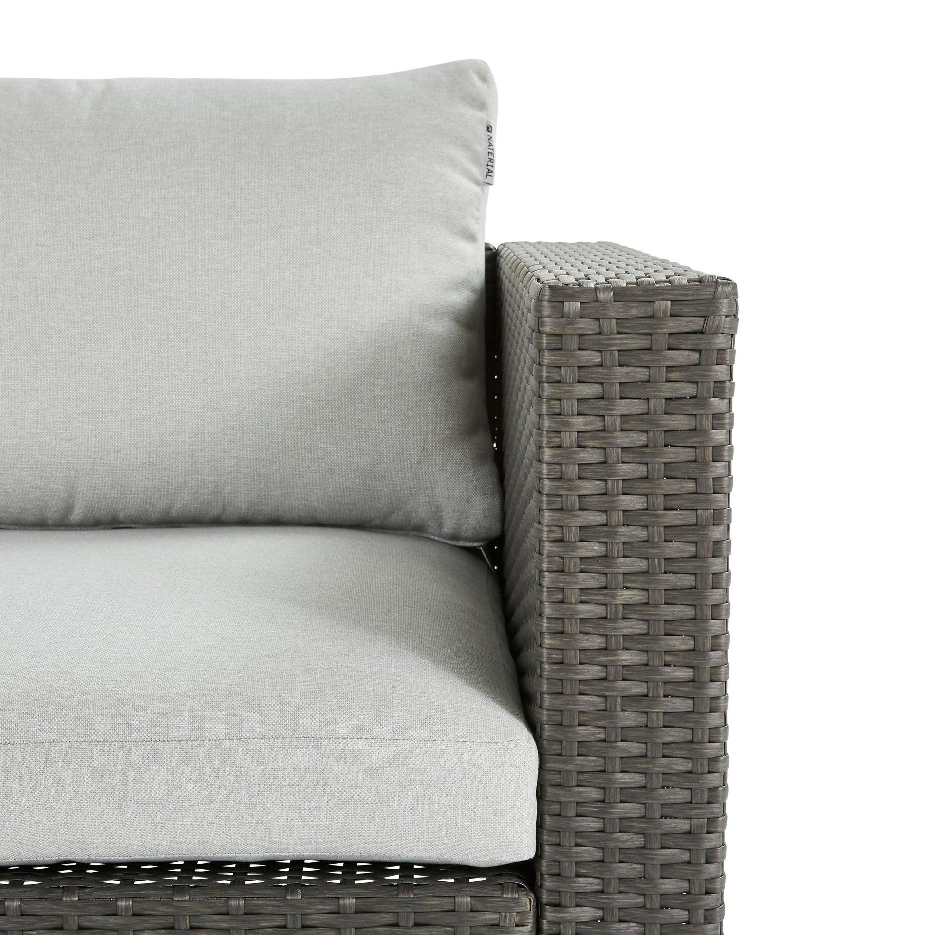 Divano da giardino con cuscino 2 posti in acciaio Noa NATERIAL colore antracite - 6