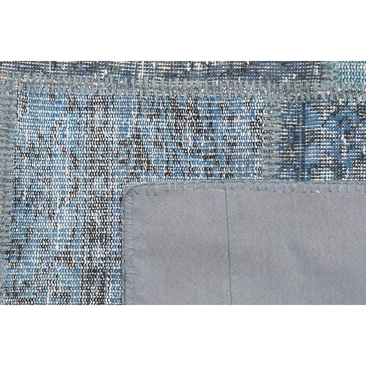 Tappeto Anatolian patchwork in lana, grigio, 60x200 - 6