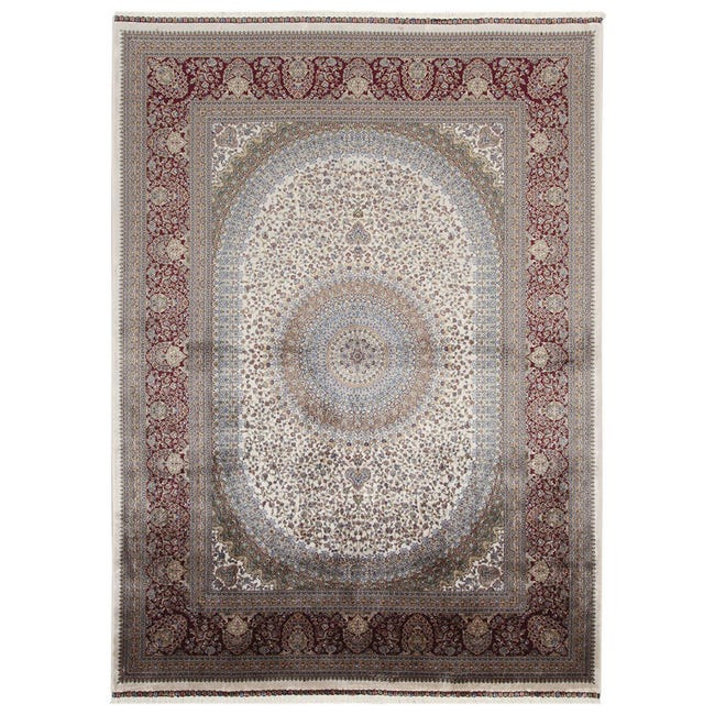 Tappeto Qoum Shah 5 in cotone, beige, 200x290 - 1