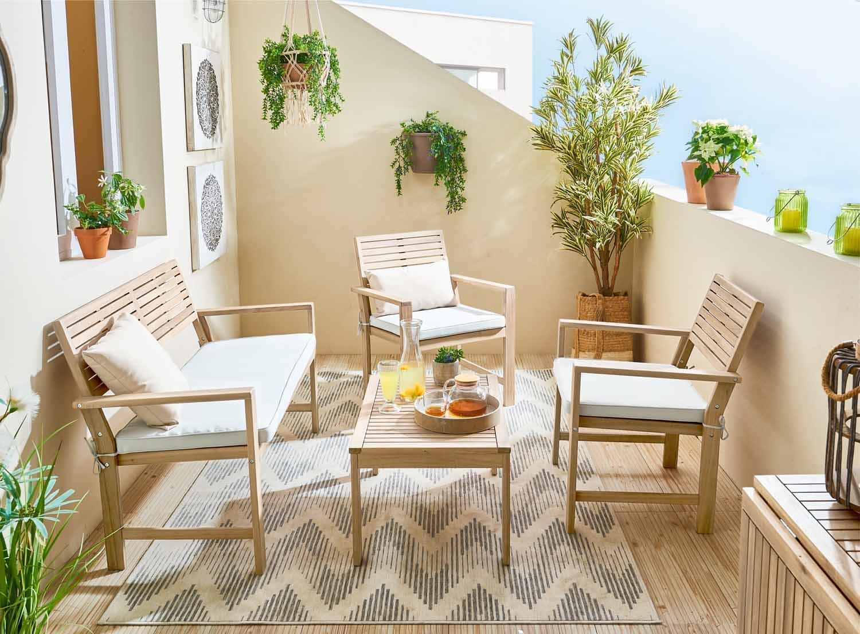 Coffee set rivestito in legno NATERIAL Solis per 4 persone - 3