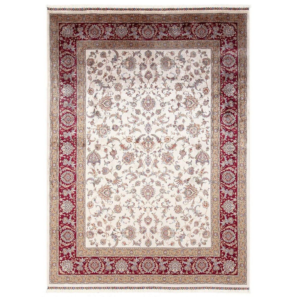 Tappeto Qoum Shah 2 in cotone, beige, 200x300 - 1