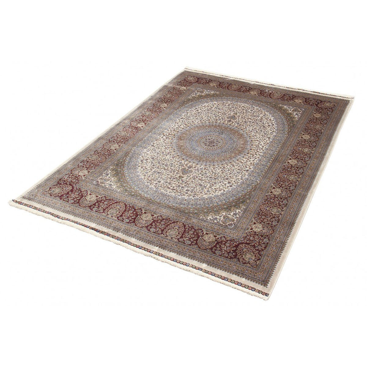 Tappeto Qoum Shah 5 in cotone, beige, 200x290 - 5
