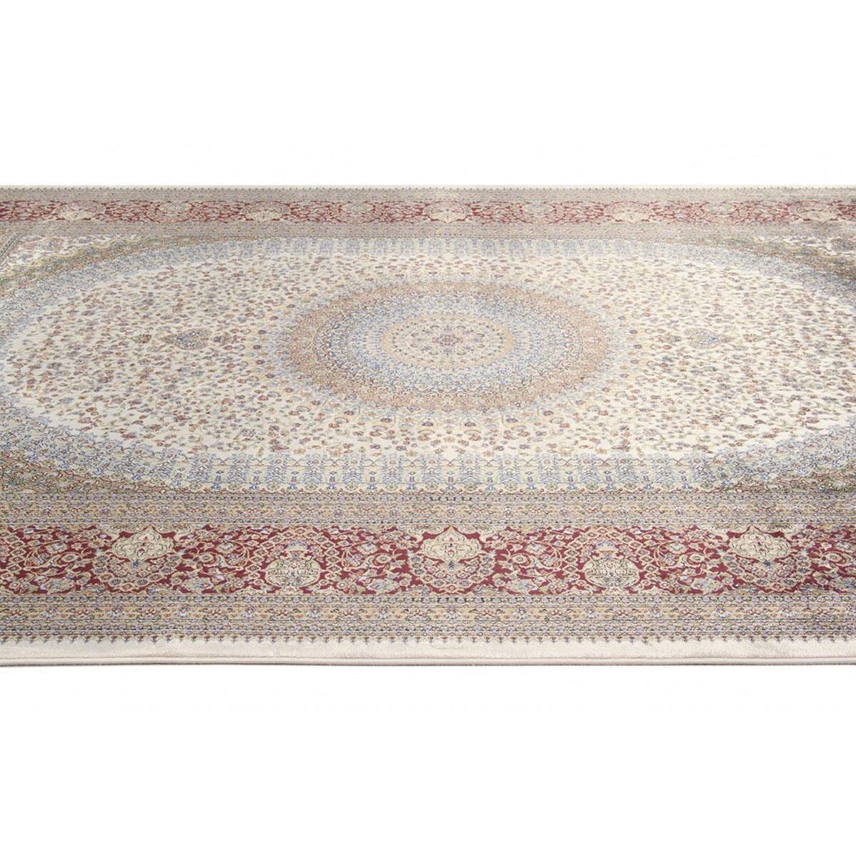 Tappeto Qoum Shah 5 in cotone, beige, 200x290 - 4