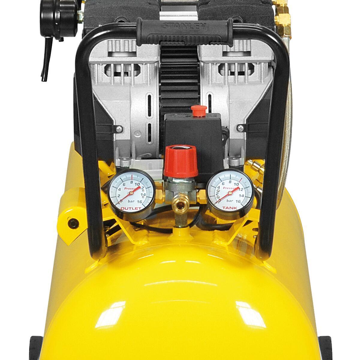Compressore silenziato STANLEY SXCMS30103E, 3 hp, 8 bar, 100 L - 5