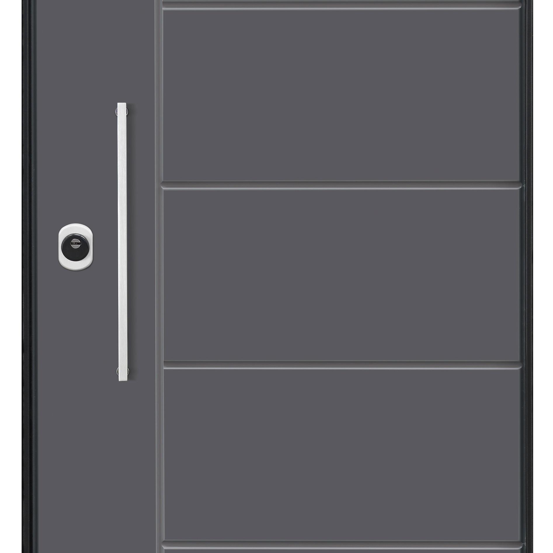 Porta blindata Termika grigio L 90 x H 210 cm destra - 11