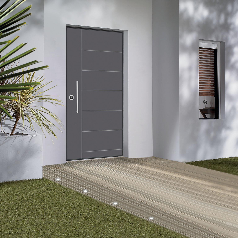 Porta blindata Termika grigio L 90 x H 210 cm destra - 1