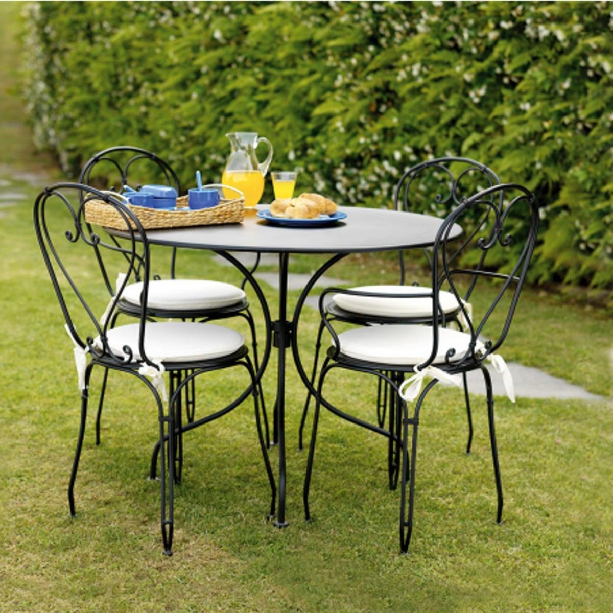Tavolo da giardino tondo tft con piano in ferro Ø 90 cm - 3