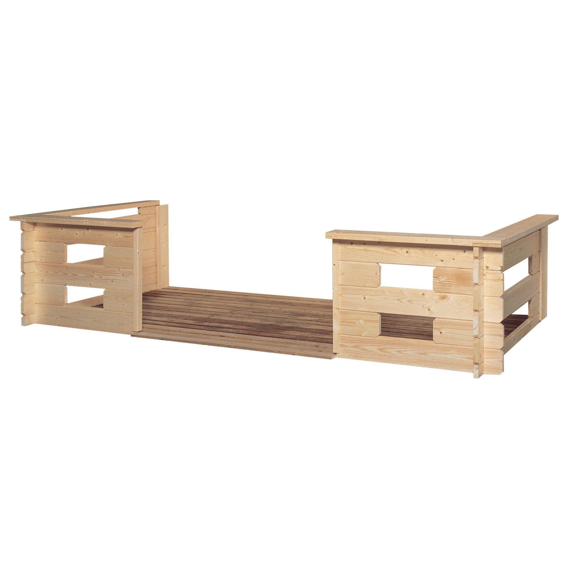 Terrazza in legno L 150 H x 204 P x 320 cm
