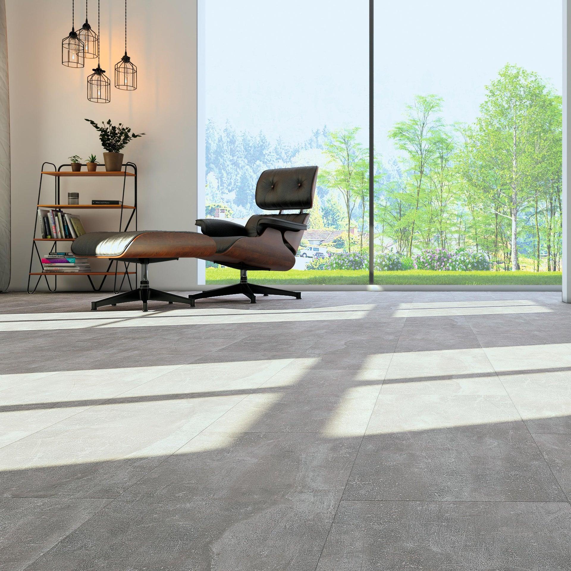 Pavimento SPC flottante clic+ Pietra Nova Industrial Sp 4.5 mm grigio / argento - 4