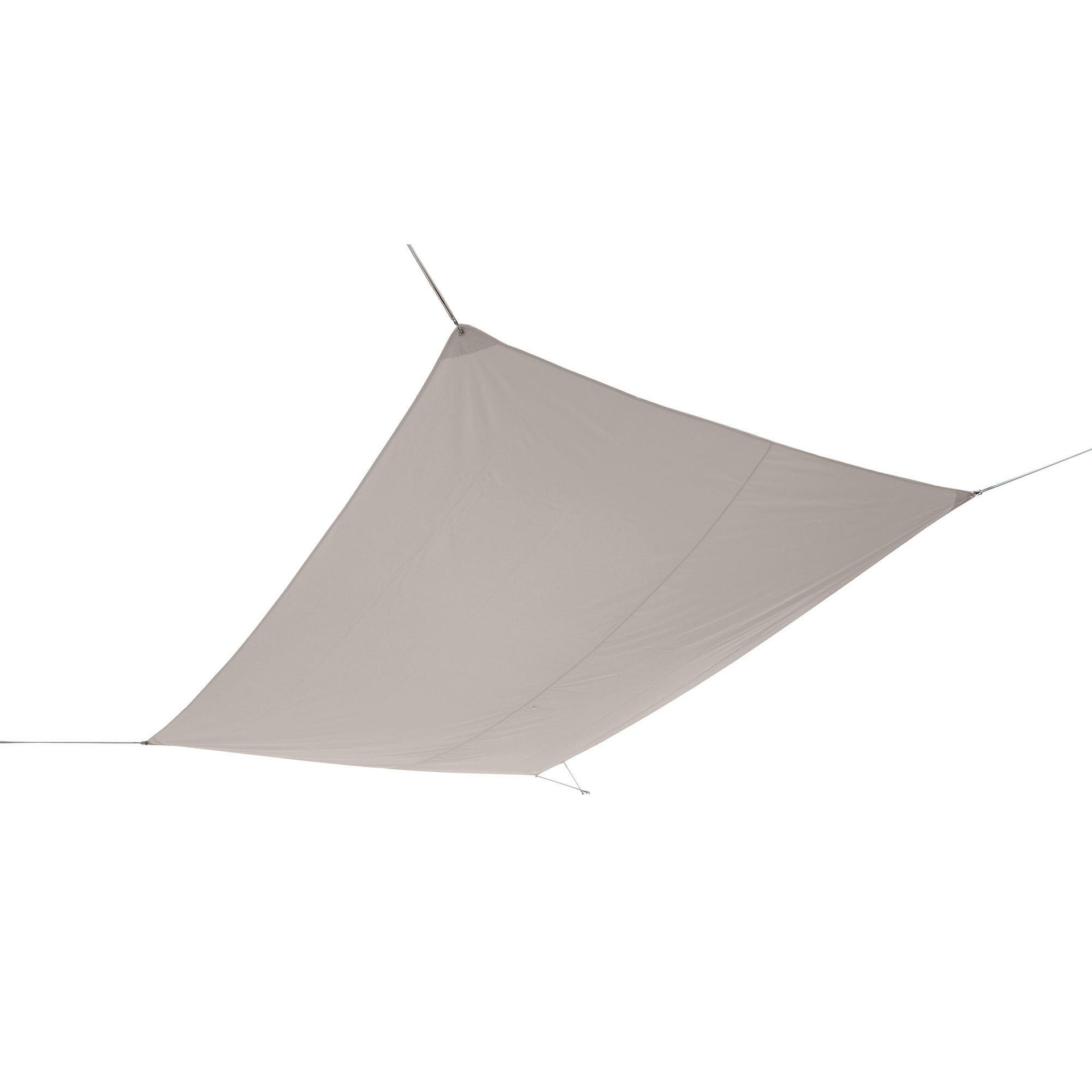 Vela ombreggiante rettangolare tortora 300 x 400 cm - 2