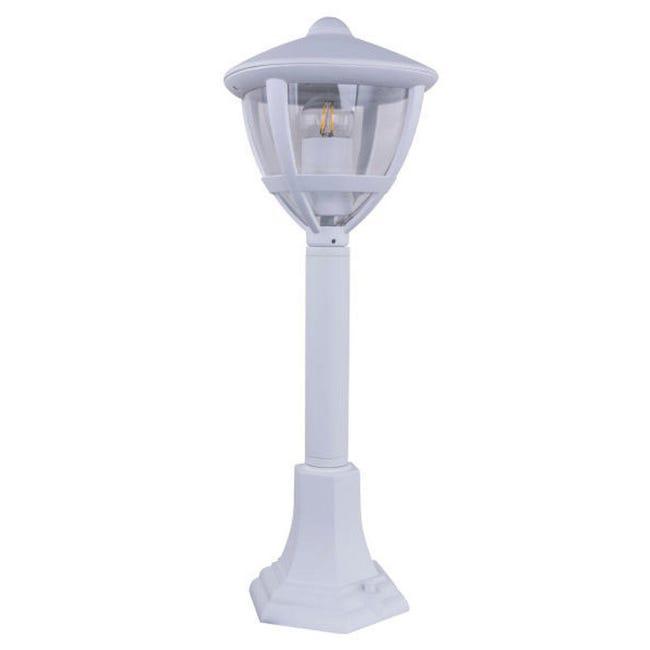 Lampioncino Nollo H50 cm in alluminio, bianco, E27 1x MAX 40W IP44 GLOBO - 1