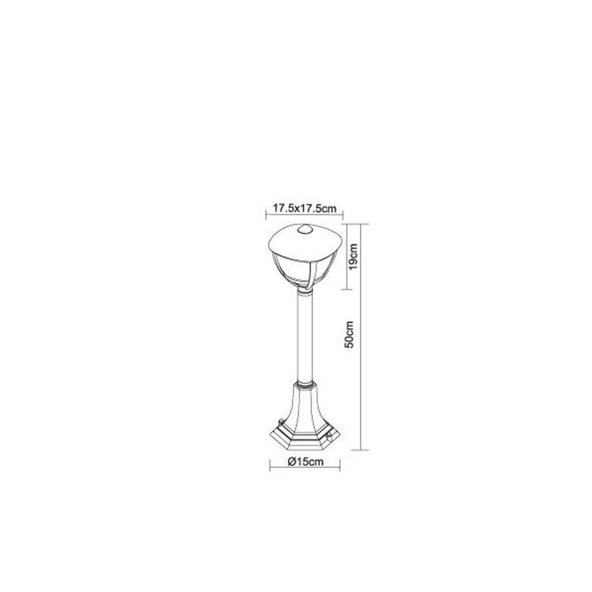 Lampioncino Nollo H50 cm in alluminio, bianco, E27 1x MAX 40W IP44 GLOBO - 2