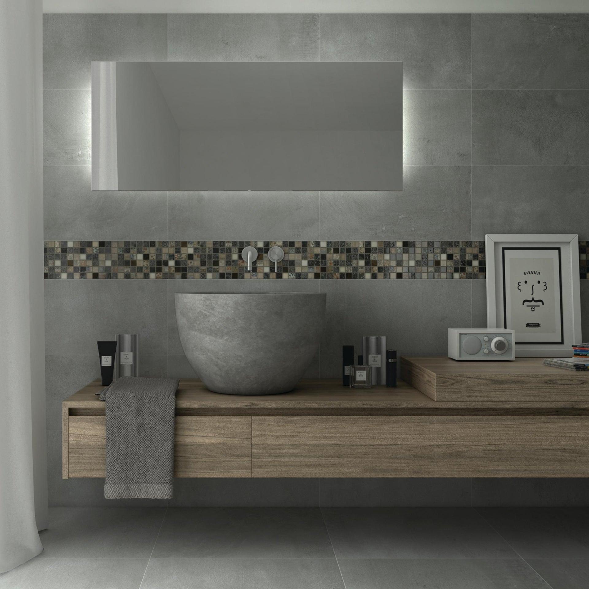 Mosaico Hydre Greyin H 30 x L 30 cm multicolore - 1