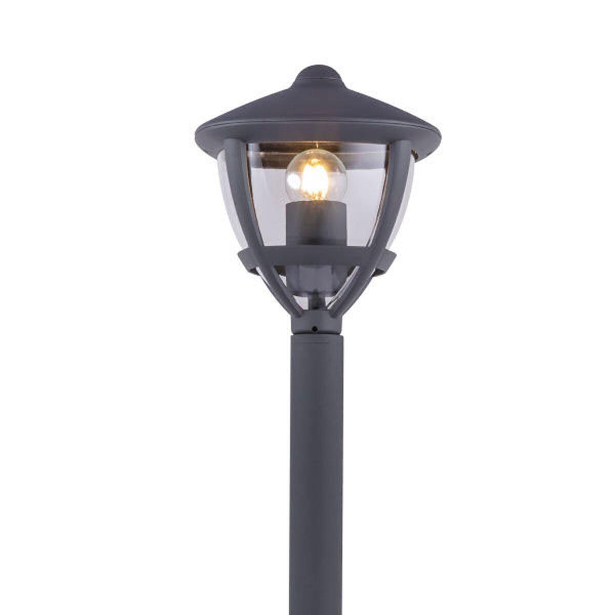 Lampione Nollo H100 cm in alluminio, antracite, E27 1x MAX 40W IP44 GLOBO - 3