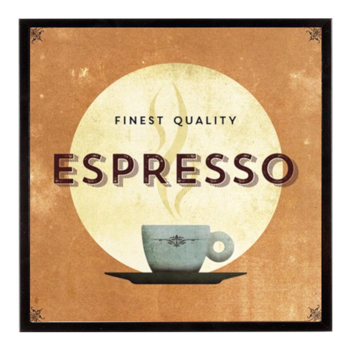 Stampa incorniciata F.C. Espresso 40.7x40.7 cm