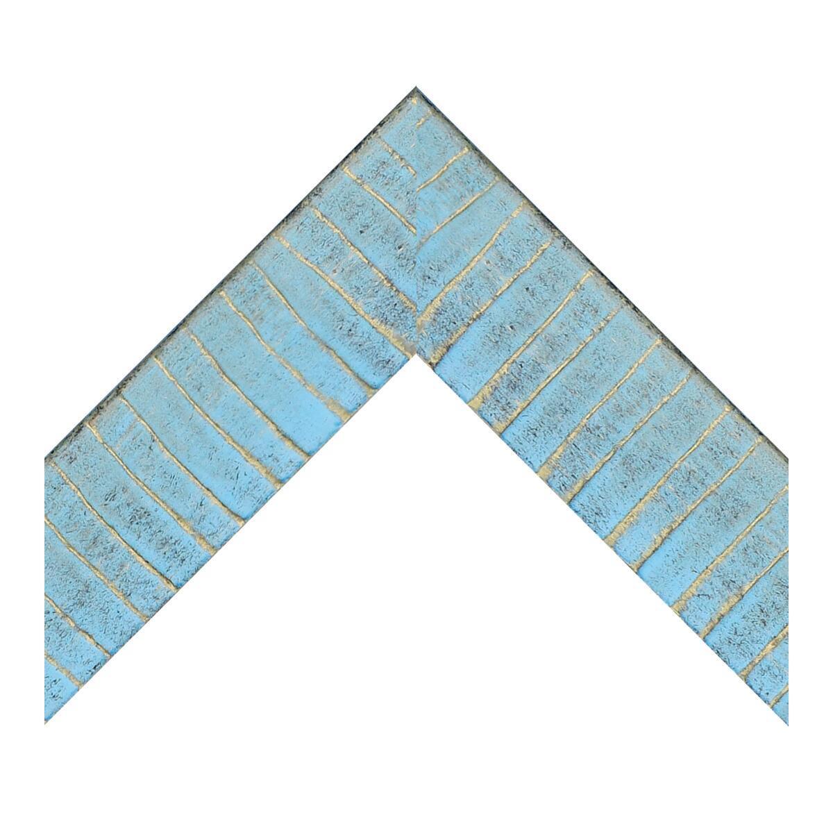 Cornice Medina azzurro<multisep/>oro per foto da 50x70 cm - 5