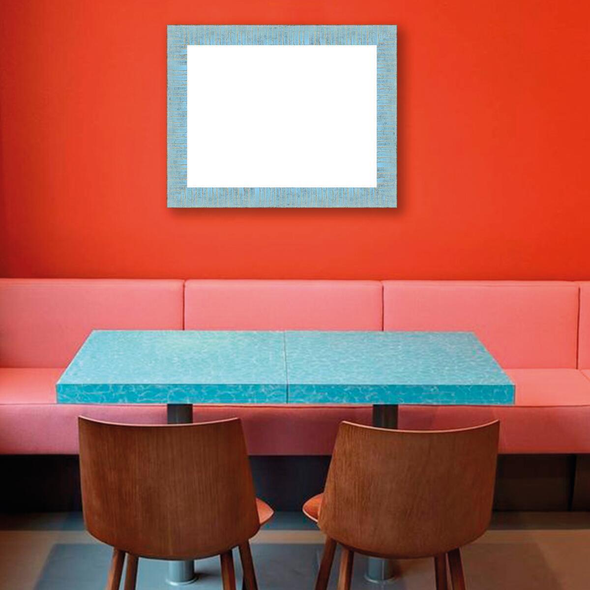 Cornice Medina azzurro<multisep/>oro per foto da 50x70 cm - 4