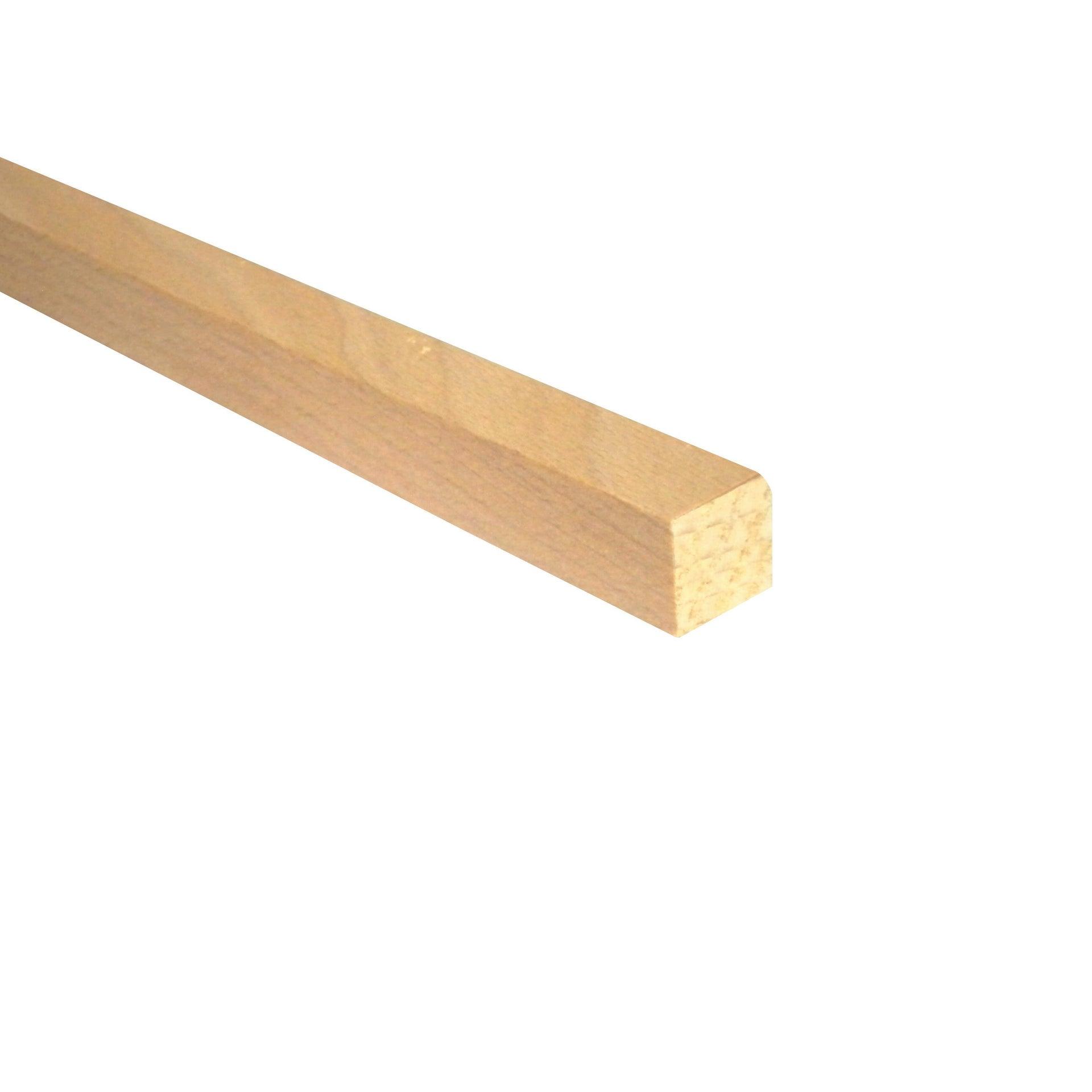 Listello piallato faggio 0.8 m x 15 mm, Sp 15 mm