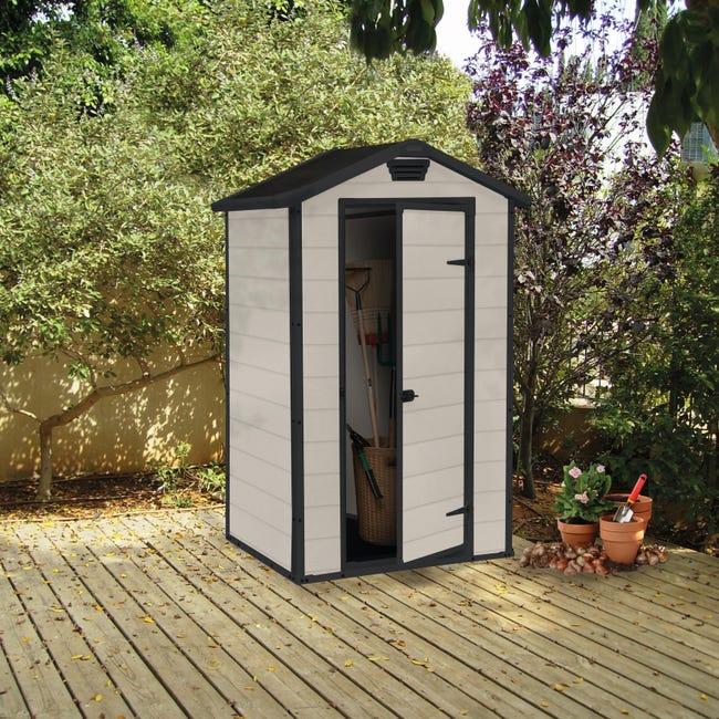 Casetta da giardino in polipropilene Lineus, superficie interna 0.98 m² e spessore parete 16 mm - 1