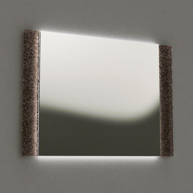 Specchio Con Illuminazione Integrata Bagno Rettangolare L 90 X H 65 Cm Leroy Merlin