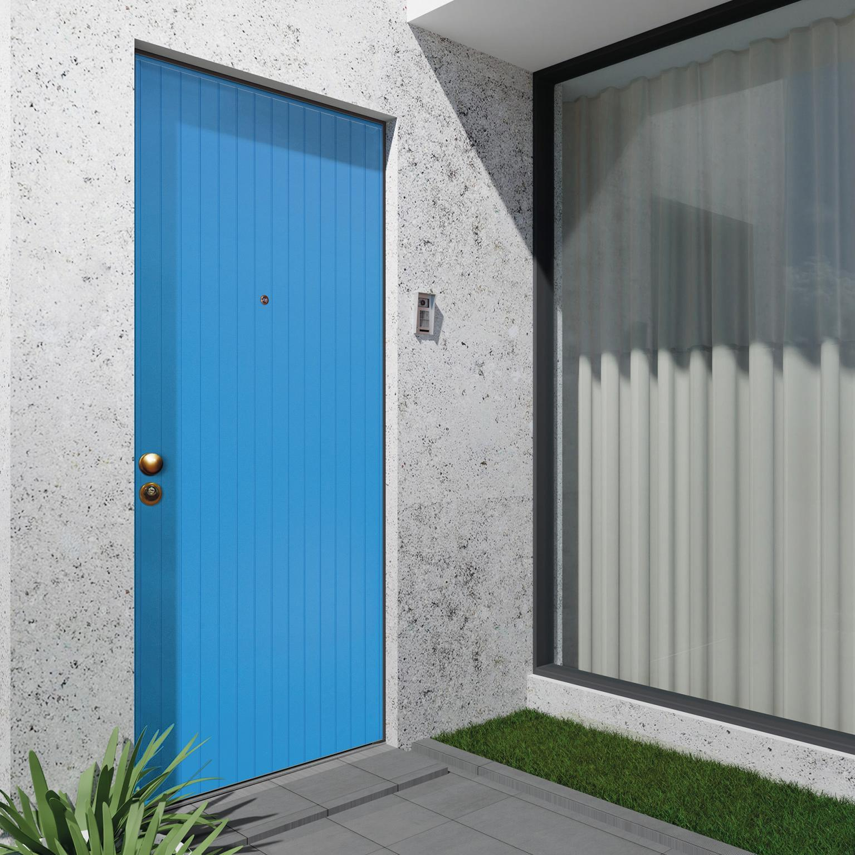 Porta blindata Grecia azzurro L 90 x H 210 cm destra - 1