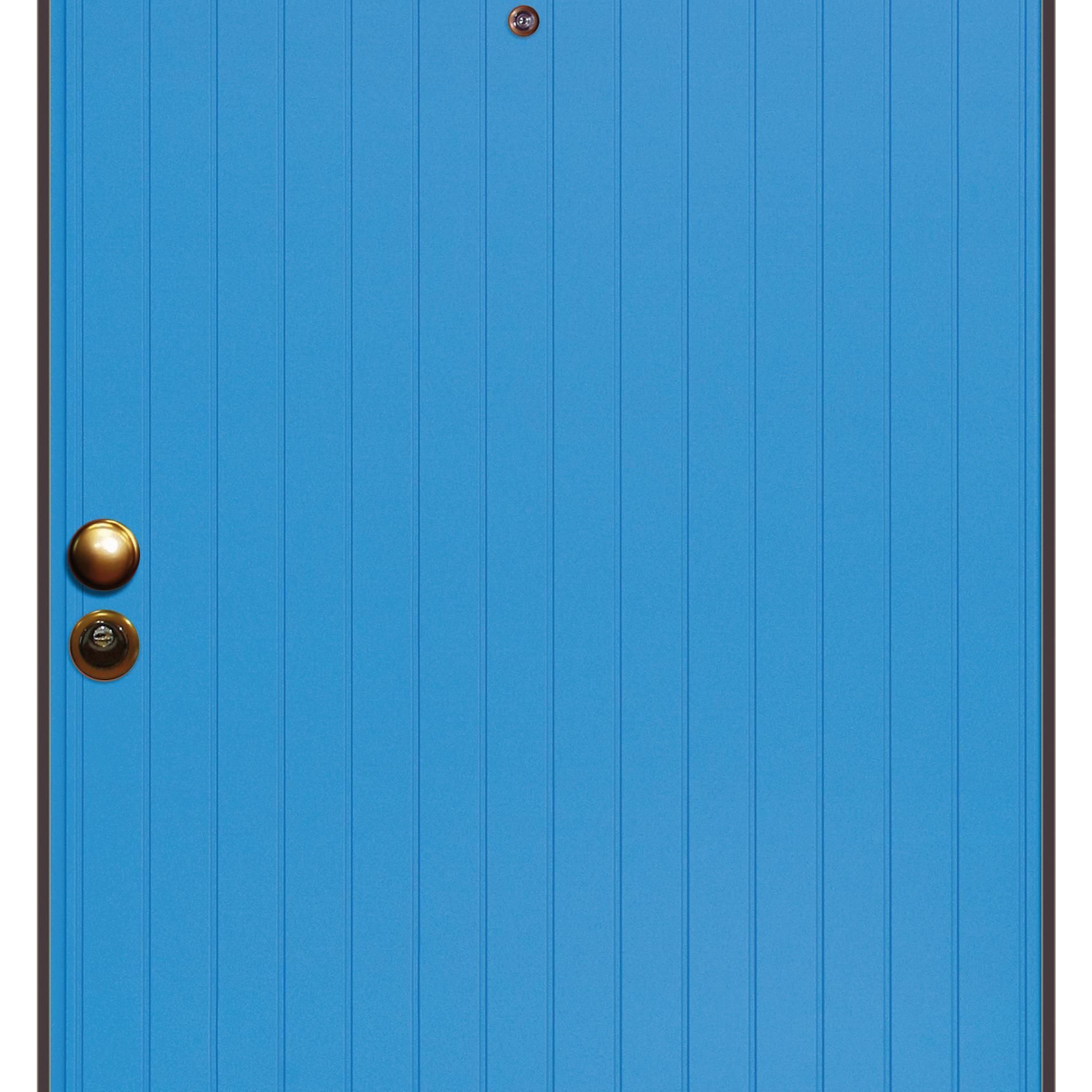 Porta blindata Grecia azzurro L 90 x H 210 cm destra - 2