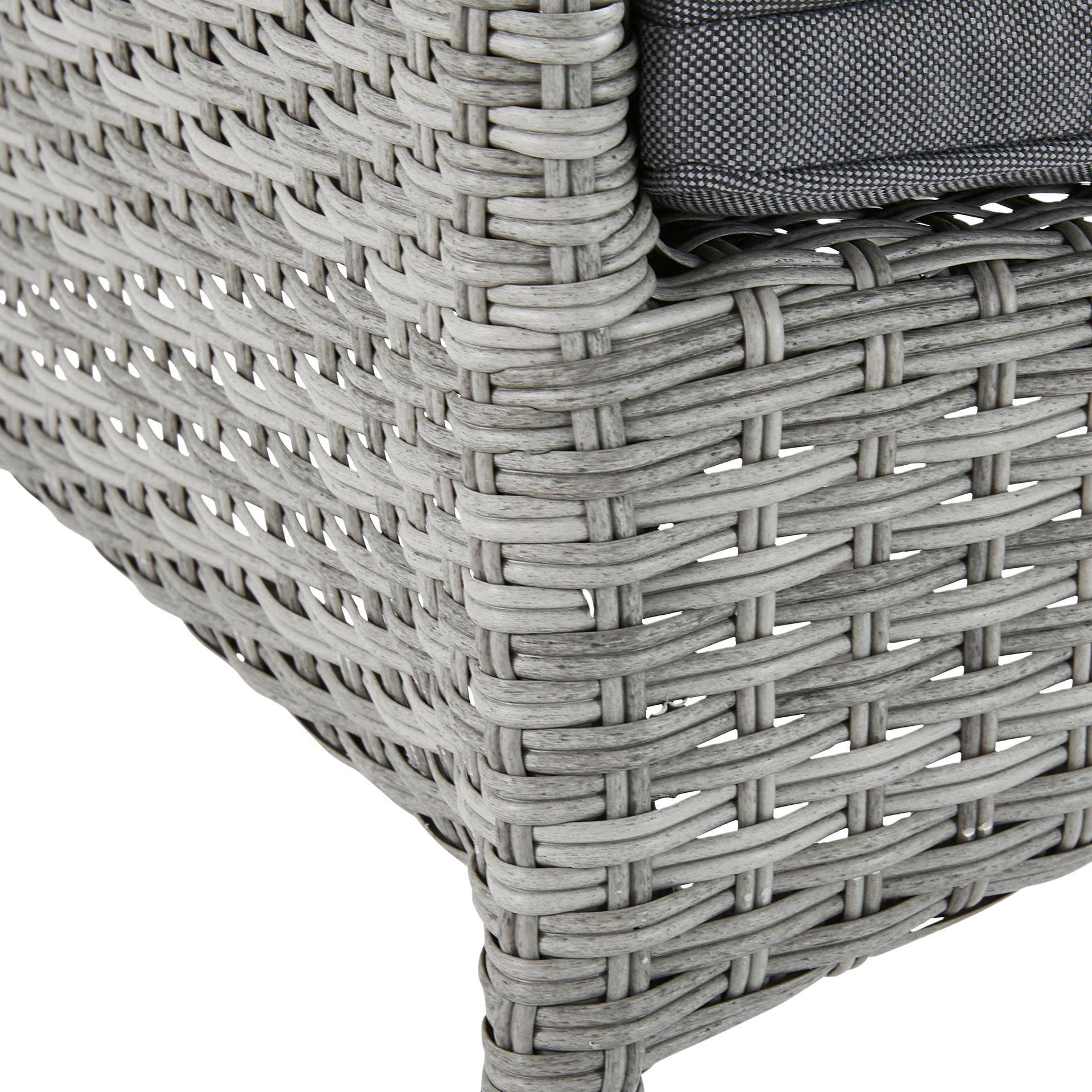 Poltrona da giardino con cuscino in alluminio Davos NATERIAL colore antracite - 3