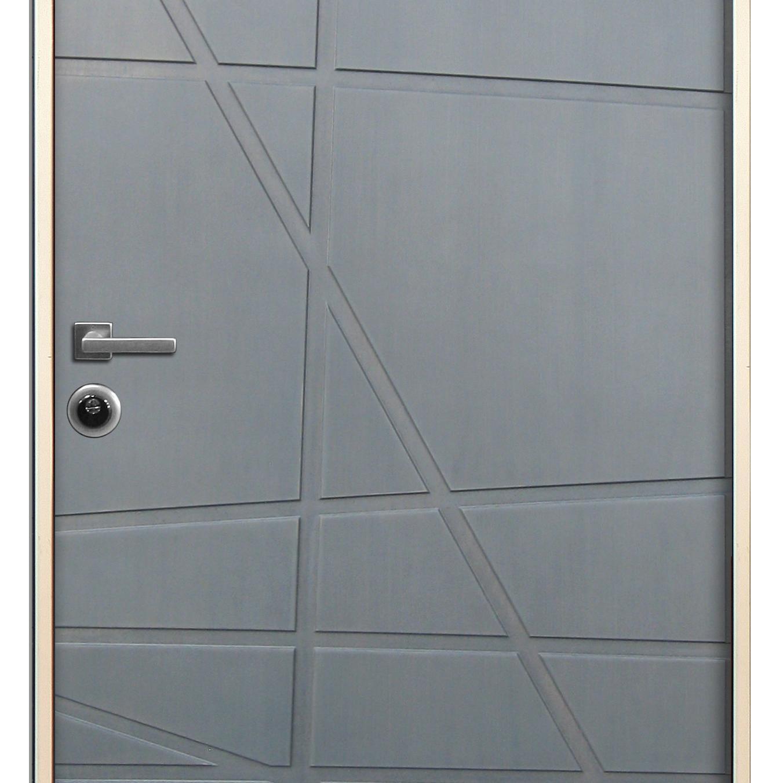 Porta blindata Invisible grigio L 90 x H 210 cm destra - 5