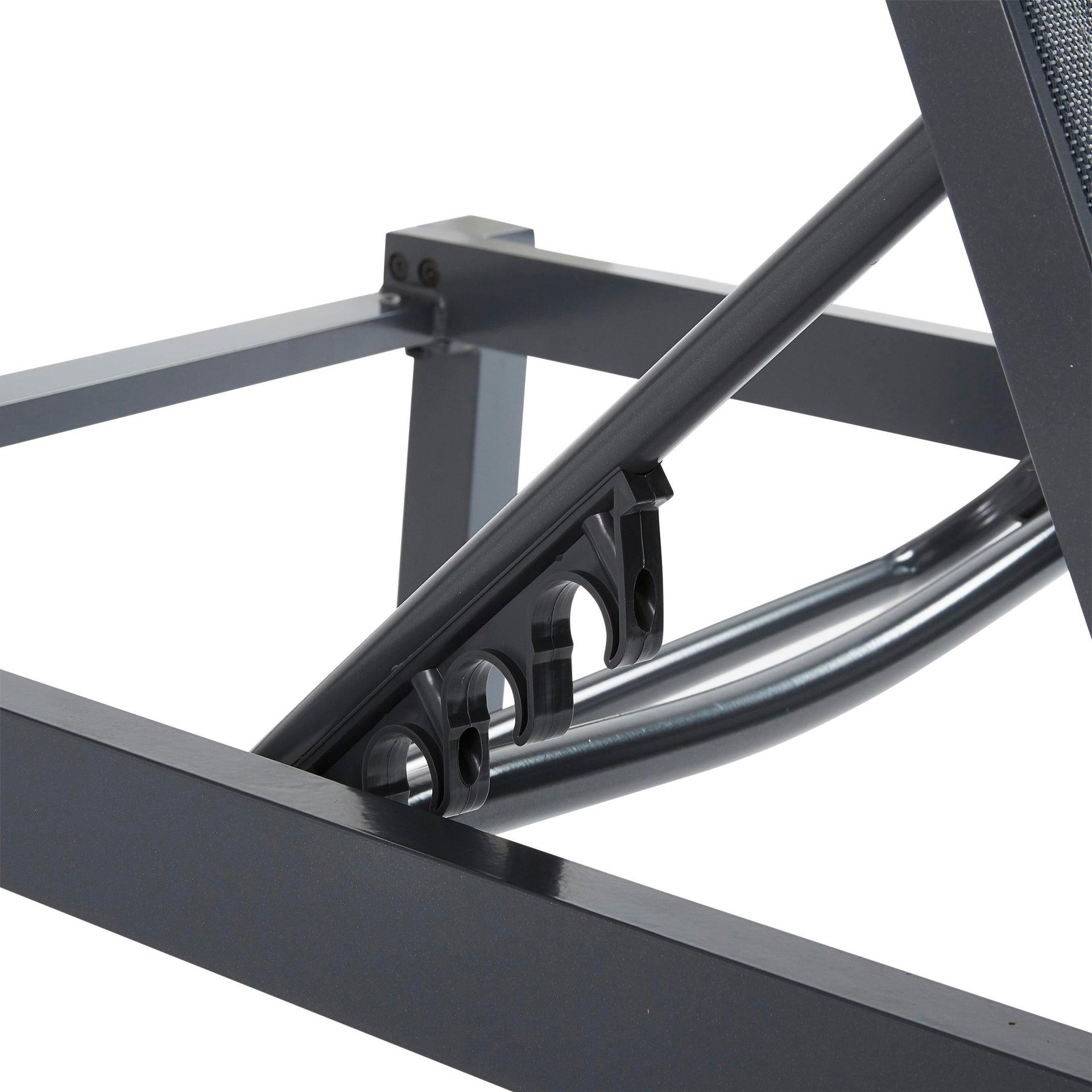 Lettino senza cuscino impilabile NATERIAL Aquila in alluminio grigio scuro - 5
