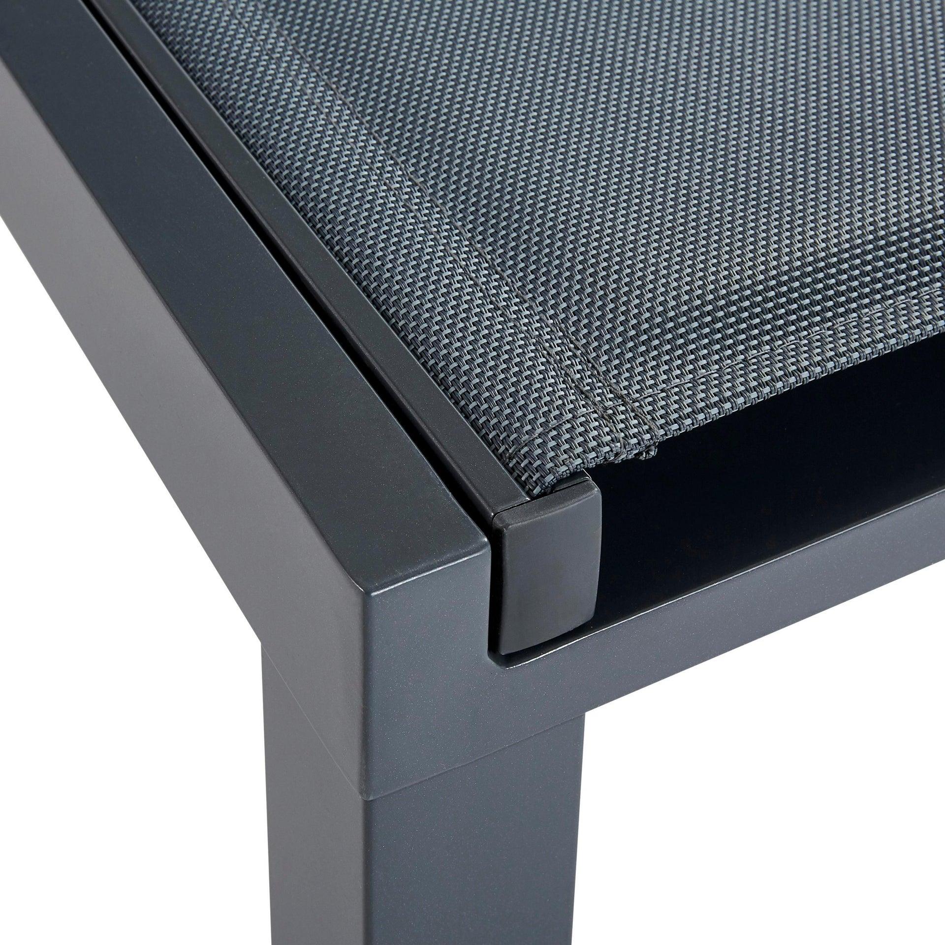 Lettino senza cuscino impilabile NATERIAL Aquila in alluminio grigio scuro - 16