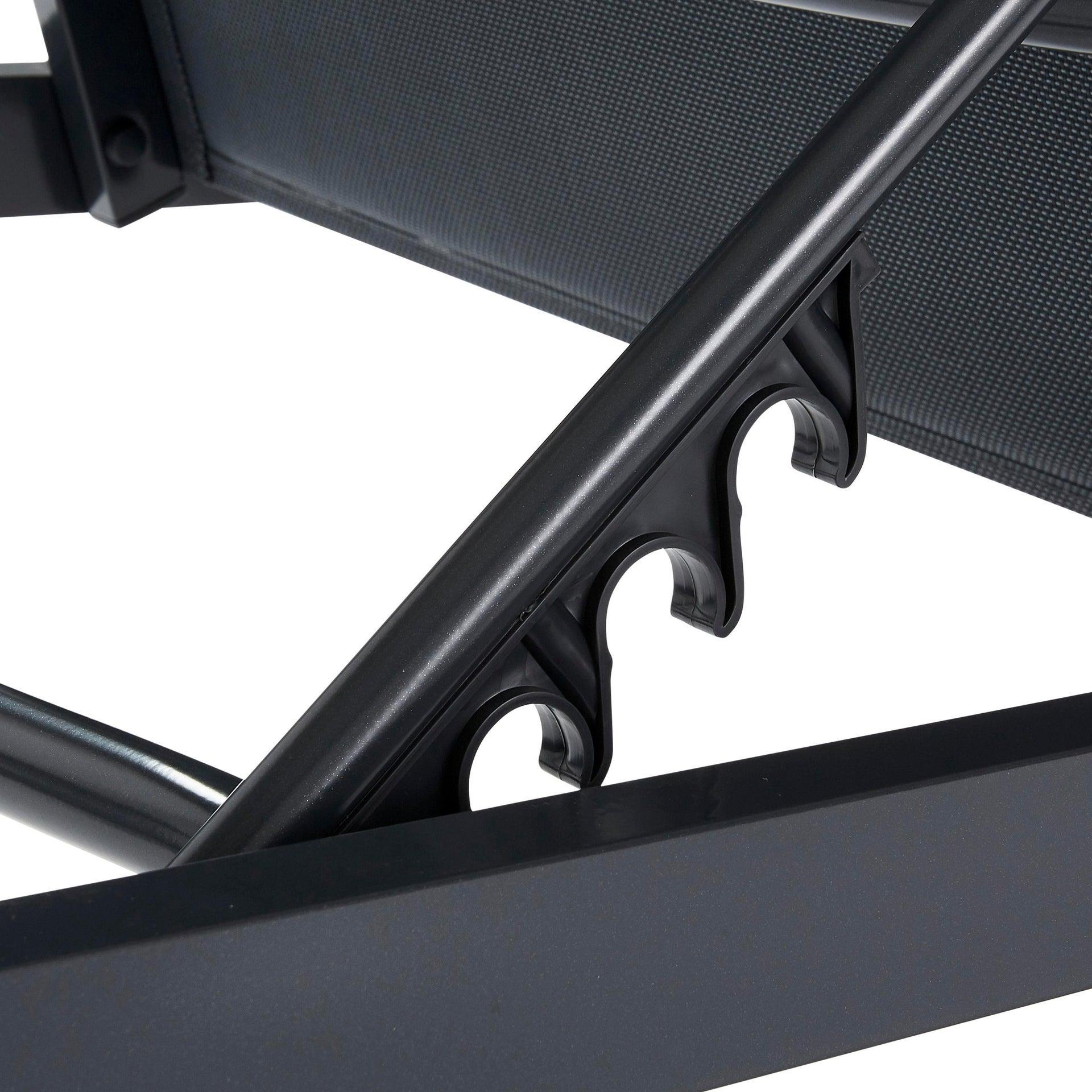 Lettino senza cuscino impilabile NATERIAL Aquila in alluminio grigio scuro - 17