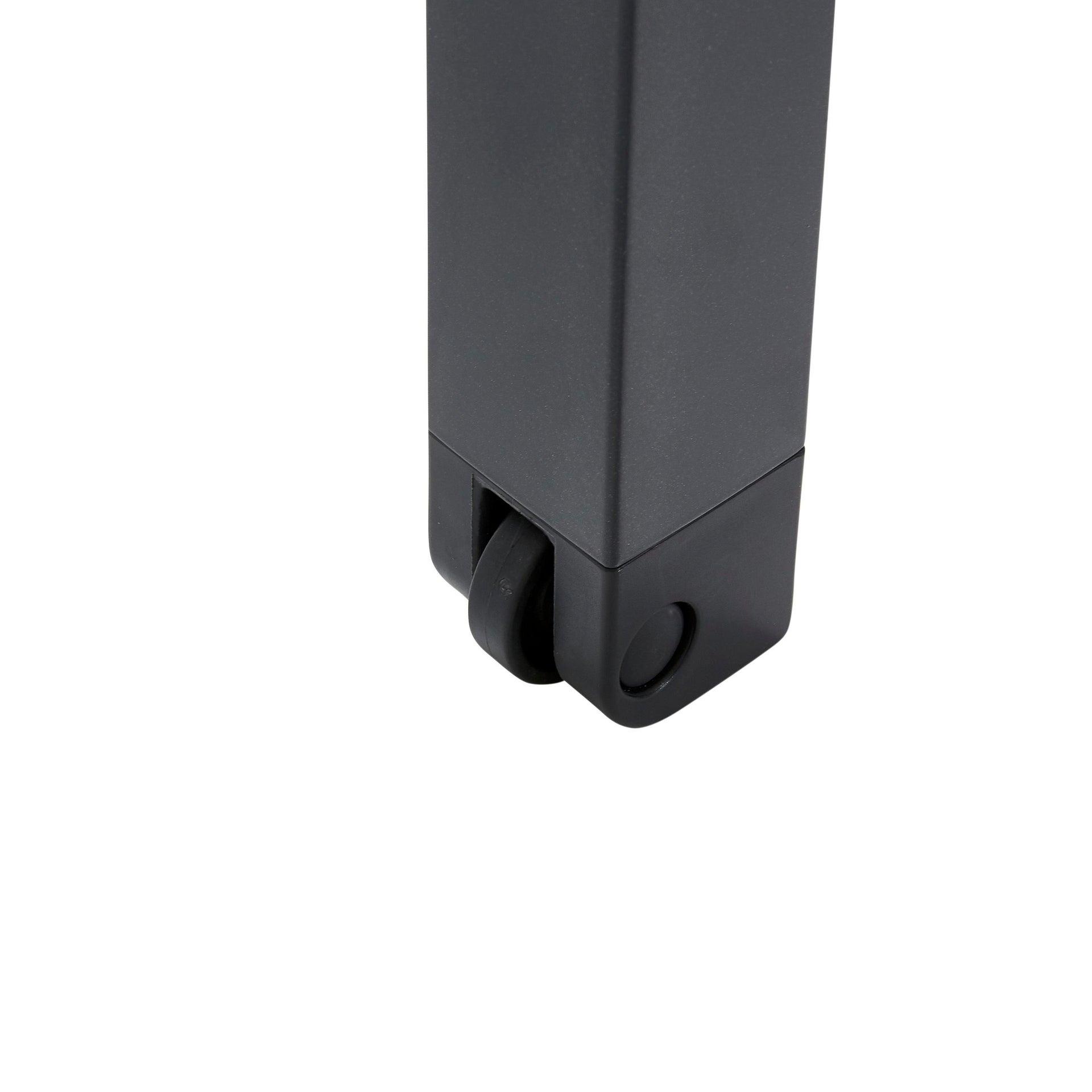 Lettino senza cuscino impilabile NATERIAL Aquila in alluminio grigio scuro - 8