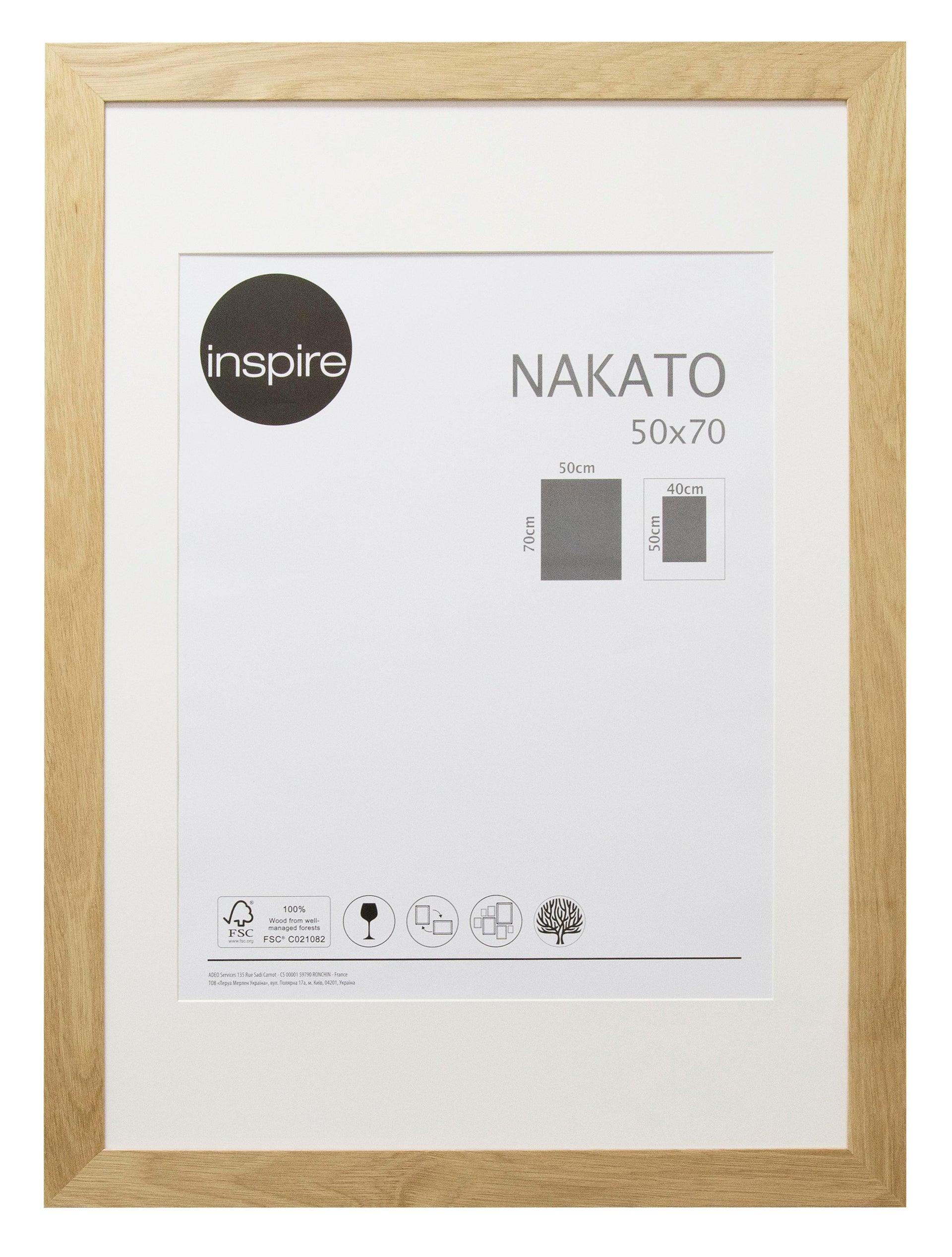 Cornice con passe-partout Inspire nakato rovere 50x70 cm - 1