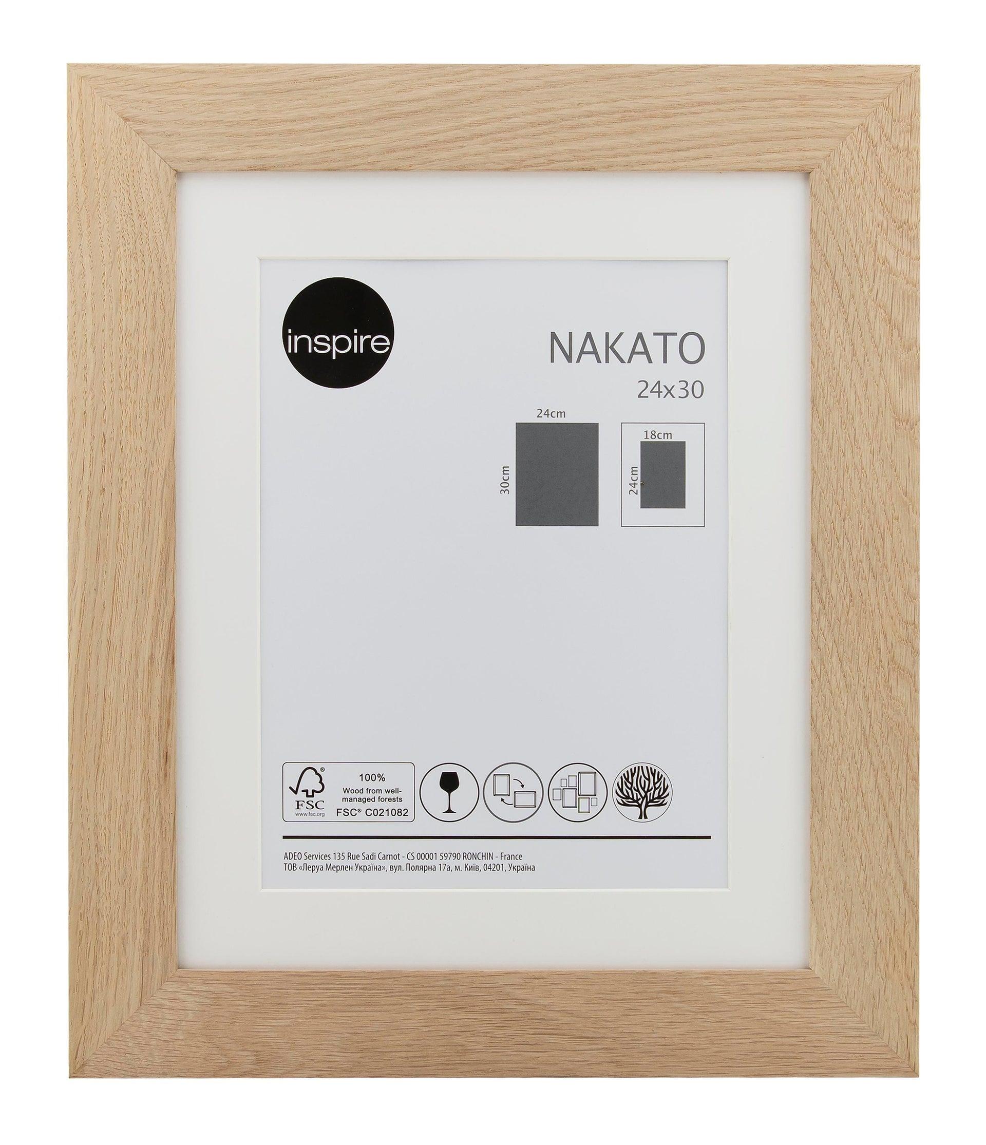 Cornice con passe-partout Inspire nakato rovere 24x30 cm - 1