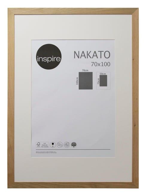 Cornice con passe-partout Inspire nakato rovere 70x100 cm - 1