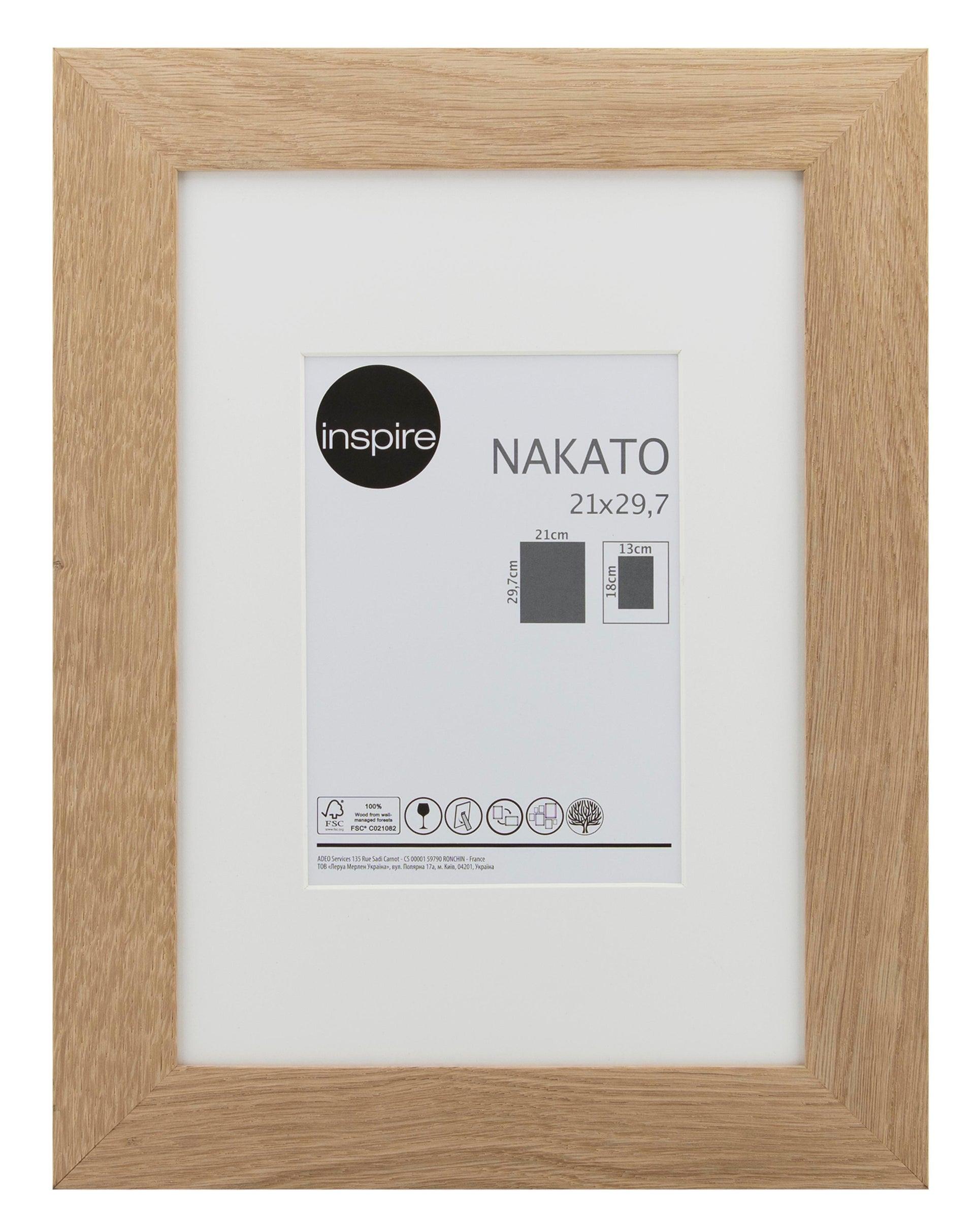 Cornice con passe-partout Inspire nakato rovere 21x29.7 cm - 1