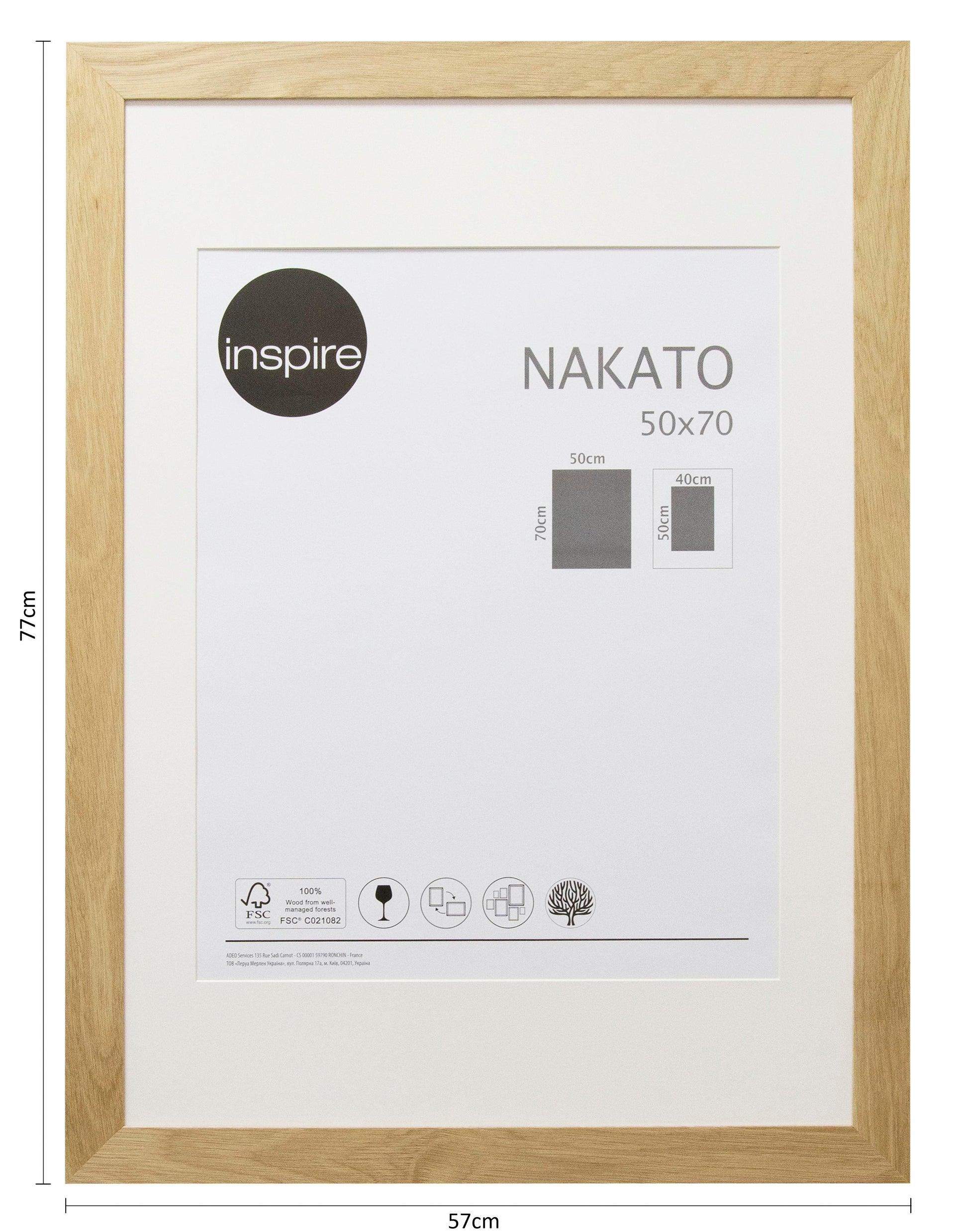 Cornice con passe-partout Inspire nakato rovere 50x70 cm - 3