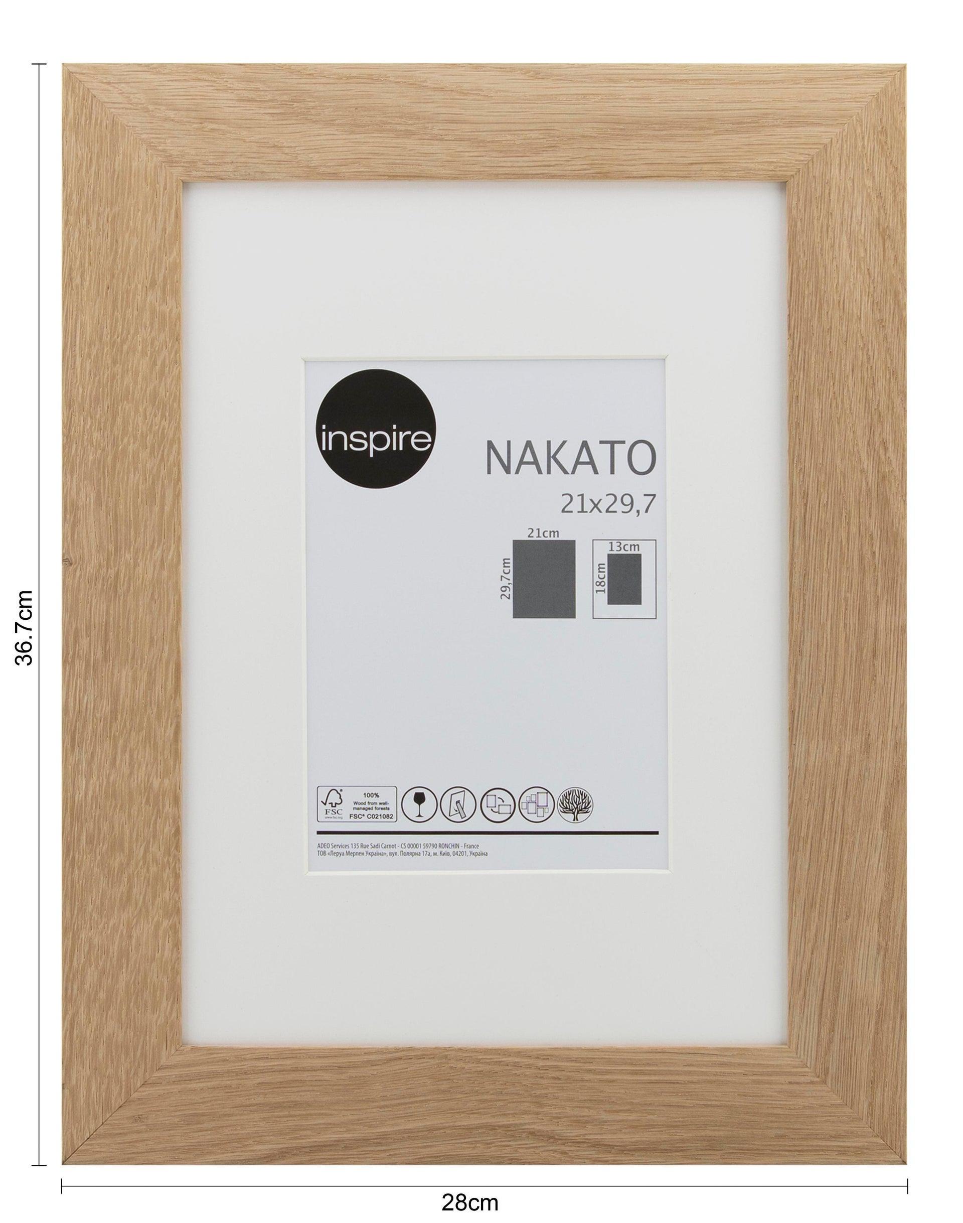 Cornice con passe-partout Inspire nakato rovere 21x29.7 cm - 2