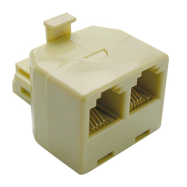 Adattatore RJ11 Usp plug beige - 1