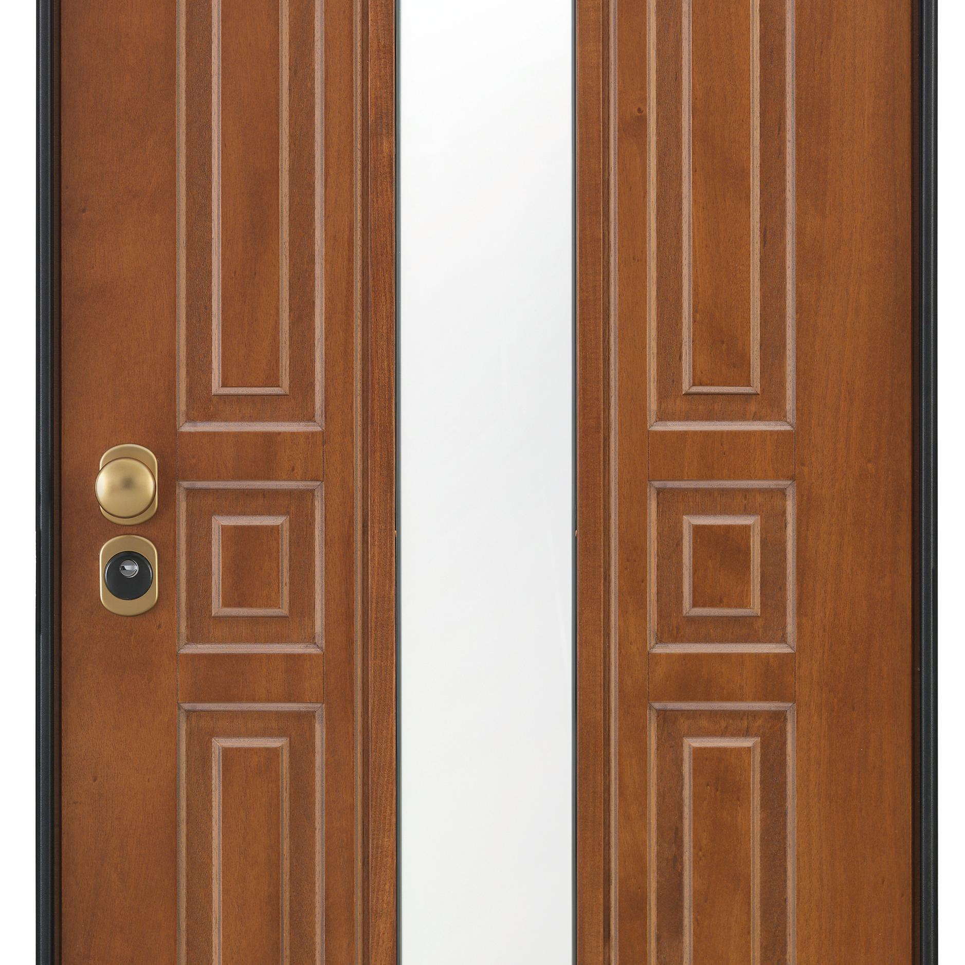 Porta blindata Mirror noce L 90 x H 210 cm destra - 13
