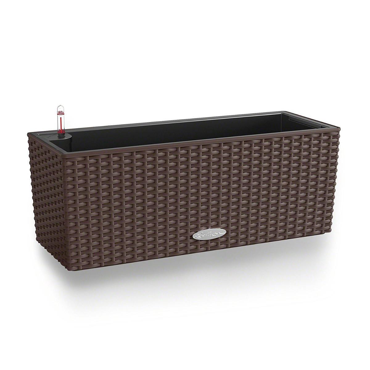 Cassetta portafiori Cottage in plastica colore marrone H 19 x L 50 - 2